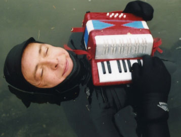 Gary Sredzienski, creek man, accordion warrior